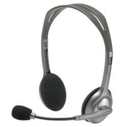 """Fejhallgató, sztereó, mikrofonnal, LOGITECH """"H110"""", fekete"""