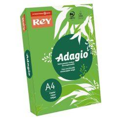 """Másolópapír, színes, A4, 80 g, REY """"Adagio"""", intenzív zöld"""