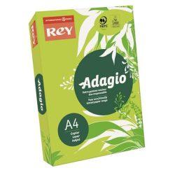 """Másolópapír, színes, A4, 80 g, REY """"Adagio"""", neon kiwi"""