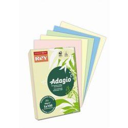 """Másolópapír, színes, A4, 80 g, 5x100 lap, REY """"Adagio"""", pasztell mix"""