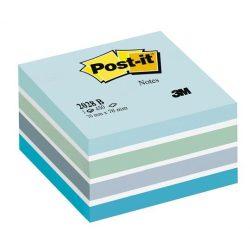 Önatapadó jegyzettömb, 76x76 mm, 450 lap, 3M POSTIT, aquarell kék
