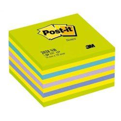 Önatapadó jegyzettömb, 76x76 mm, 450 lap, 3M POSTIT, lollipop zöld
