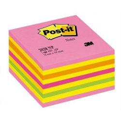 Önatapadó jegyzettömb, 76x76 mm, 450 lap, 3M POSTIT, lollipop pink