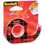 "Ragasztószalag, adagolón, 19 mm x 7,5 m, 3M SCOTCH ""Crystal"""