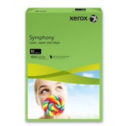 """Másolópapír, színes, A4, 160 g, XEROX """"Symphony"""", sötétzöld (intenzív)"""