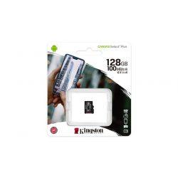 "Memóriakártya, microSDXC, 128GB, CL10/UHS-I/U1/V10/A1, KINGSTON ""Canvas Select Plus"""