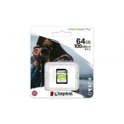 "Memóriakártya, SDXC, 64GB, CL10/UHS-I/U1/V10, KINGSTON ""Canvas Select Plus"""