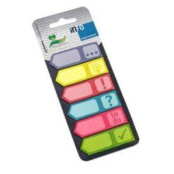 Oldaljelölő papír Info Notes 18x55 mm 6x25 lapos színes mintás
