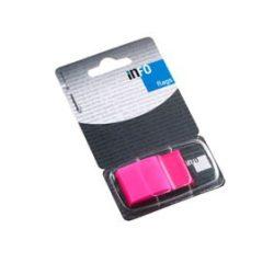 Oldaljelölő műanyag Info Notes Info Flag 25x43 mm 50 lapos rózsaszín