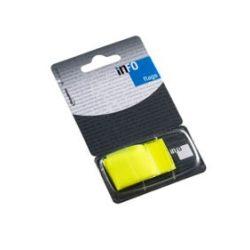 Oldaljelölő műanyag Info Notes Info Flag 25x43 mm 50 lapos sárga