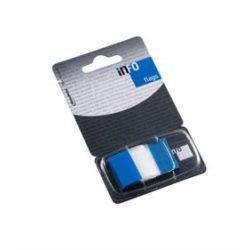 Oldaljelölő műanyag Info Notes Info Flag 25x43 mm 50 lapos áttetsző kék
