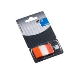 Oldaljelölő műanyag Info Notes Info Flag 25x43 mm 50 lapos áttetsző narancssárga