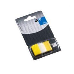 Oldaljelölő műanyag Info Notes Info Flag 25x43 mm 50 lapos áttetsző sárga