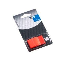 Oldaljelölő műanyag Info Notes Info Flag 25x43 mm 50 lapos narancssárga