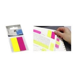 Oldaljelölő műanyag Info Notes 20x50 mm 2x25 lapos sárga/rózsaszín