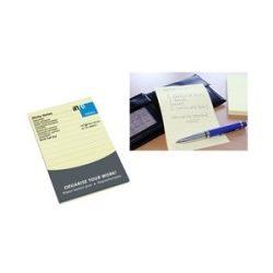 Öntapadós jegyzettömb Info Notes 100x150 mm 100 lapos sárga vonalas