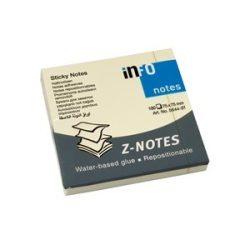 Öntapadós jegyzettömb Info Notes 75x75 mm Z tömb 100 lapos sárga