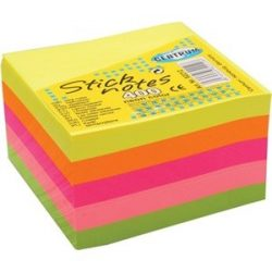 Öntapadós jegyzettömb Centrum Stick Notes 76x76 mm 400 lapos neon vegyes színek