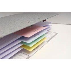 Elválasztócsík Exacompta karton 100 db/csomag fehér