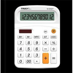 Számológép Truly 814A-12 asztali fehér