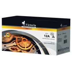 """Lézertoner """"LaserJet 1010, 1012, 1015"""" nyomtatókhoz, VICTORIA fekete, 4k"""