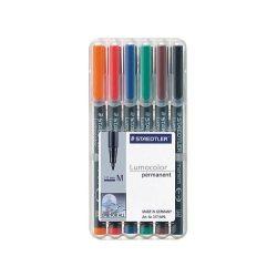 """Alkoholos marker, 0,8-1 mm, STAEDTLER """"317"""", 6 különböző szín"""