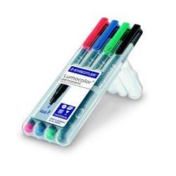 """Alkoholos marker, 0,6 mm, STAEDTLER """"318"""", 4 különböző szín"""
