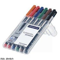 """Alkoholos marker, 0,6 mm, STAEDTLER """"318"""", 6 különböző szín"""