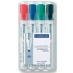 """Táblamarker, 2 mm, kúpos, STAEDTLER """"351"""", 4 különböző szín"""