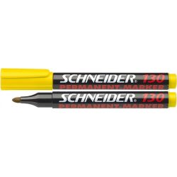 "Alkoholos marker, 1-3 mm, kúpos, SCHNEIDER ""Maxx 130"", sárga"