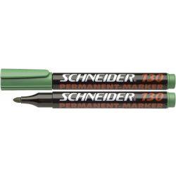 "Alkoholos marker, 1-3 mm, kúpos, SCHNEIDER ""Maxx 130"", zöld"
