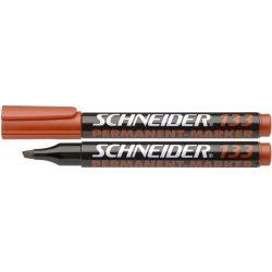 "Alkoholos marker, 1-4 mm, vágott, SCHNEIDER ""Maxx 133"", piros"