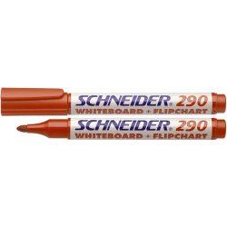 """Tábla- és flipchart marker, 1-3 mm, kúpos, SCHNEIDER """"Maxx 290"""", piros"""