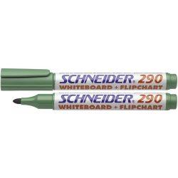 """Tábla- és flipchart marker, 1-3 mm, kúpos, SCHNEIDER """"Maxx 290"""", zöld"""