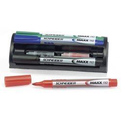 """Tábla- és flipchart marker készlet, 1-3 mm, szivaccsal, SCHNEIDER """"Maxx Eco"""", 4 különböző szín"""
