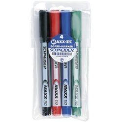 """Tábla- és flipchart marker, 1-3 mm, kúpos, SCHNEIDER """"Maxx Eco"""", 4 különböző szín"""