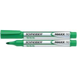 """Tábla- és flipchart marker, 1-3 mm, kúpos, SCHNEIDER """"Maxx Eco"""", zöld"""