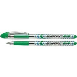 "Golyóstoll, 0,5 mm, kupakos, SCHNEIDER ""Slider M"", zöld"
