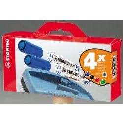 """Táblamarker készlet, 2,5-3,5 mm, kúpos, törlőszivaccsal, STABILO """"Plan"""", vegyes"""