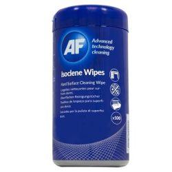 """Tisztítókendő, izopropil alkohollal, antibakteriális, 100 db, AF """"Isoclene"""""""