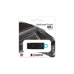 """Pendrive, 64GB, USB 3.2, KINGSTON """"DataTraveler Exodia"""", fekete-kék"""