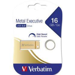 "Pendrive, 16GB, USB 3.0, VERBATIM ""Executive Metal"" arany"