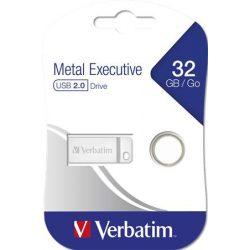 "Pendrive, 32GB, USB 2.0,  VERBATIM ""Executive Metal"", ezüst"