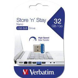 "Pendrive, 32GB, USB 3.0, 80/25MB/sec, VERBATIM ""Nano Store n Stay"""