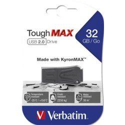 "Pendrive, 32GB, USB 2.0, extra ellenálló, VERBATIM ""ToughMAX"", fekete"