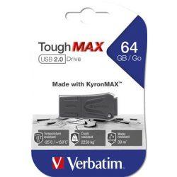 "Pendrive, 64GB, USB 2.0, extra ellenálló, VERBATIM ""ToughMAX"", fekete"