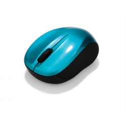 """Egér, vezeték nélküli, optikai, közepes méret, USB, VERBATIM """"Go"""", karibikék"""