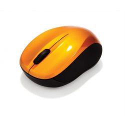 """Egér, vezeték nélküli, optikai, közepes méret, USB, VERBATIM """"Go"""", lávaszínű"""
