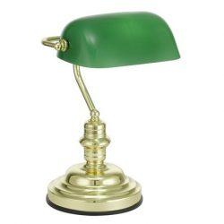 """Asztali lámpa, 60 W, EGLO """"Banker"""", zöld"""