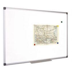 Fehértábla, mágneses, 120x240 cm, alumínium keret, VICTORIA